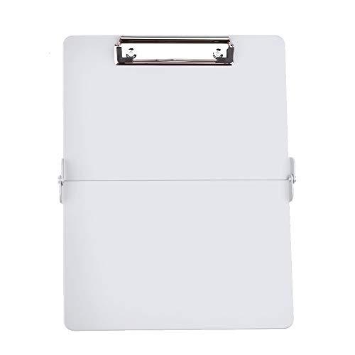 Foldover Clipboard Full Size Clipboard Lightweight Aluminum Construction (White)