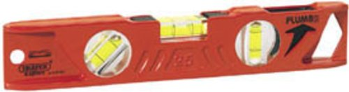 DRAPER EXPERT 250MM PLUMB SITE® DUAL VIEW™ BOAT SPIRIT LEVEL WITH MAGNETIC BASE(DRAPER D923-25)