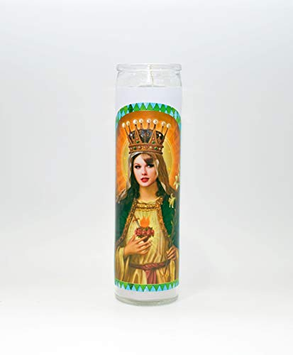 Saint Taylor Swift Celebrity Prayer Candle Humor Funny Prayer Candle Taylor Swift Gift ()