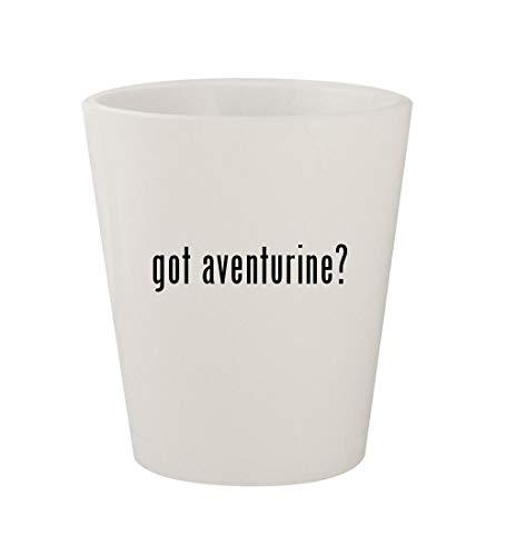 got aventurine? - Ceramic White 1.5oz Shot Glass