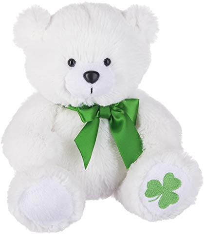 Ganz St Patrick's Shamrock Bear Plush Furry Stuffed Animal Teddy for Kids The One They Will Love Forever (Shamrock Bear) - Furry Stuffed Animal