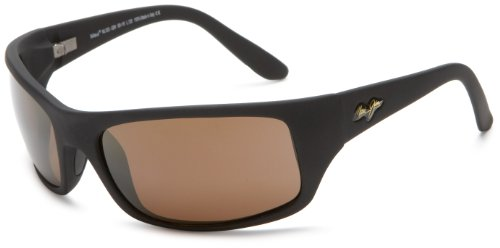 Maui Jim Peahi Sunglasses - Polarized Matte Black Rubber/Hcl Bronze, One - Maui Jim Polarized Sunglasses Peahi