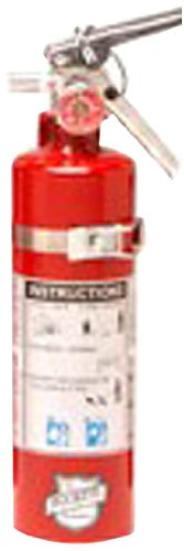 Buckeye 13415 Standard Dry Chemical Hand Held Fire Extinguisher with Aluminum Valve and Vehicle Bracket, 2.5 lbs Agent Capacity, 3-3/8