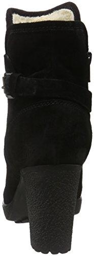 MANAS 162M3703EX - Botas cortas con tacón para mujer Negro (Nero)