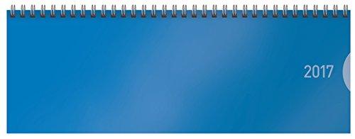 Tischquerkalender Classic Colourlux blau 2017