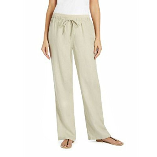 Womens Linen Drawstring Pants - 3