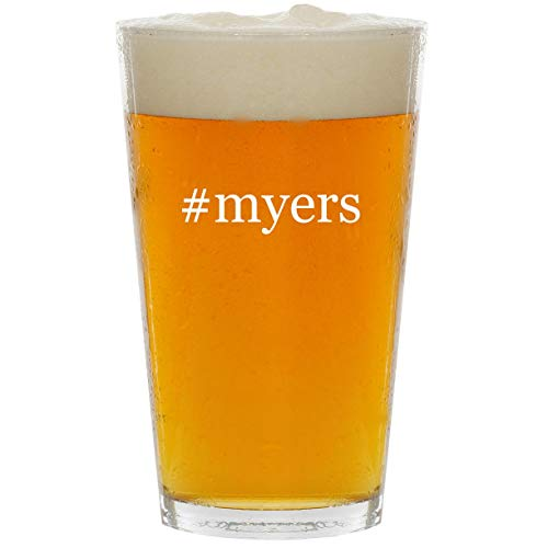 #myers - Glass Hashtag 16oz Beer Pint -