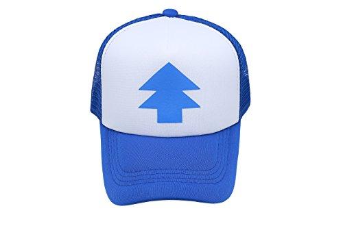sombrero Cazo casquillo azul Nueva de del Bill de curvado la del camionero Falls de historieta árbol del pino gravedad la del rUrqa0