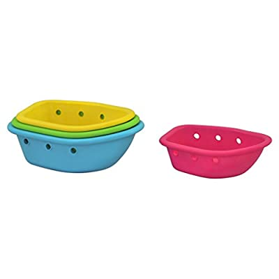 green sprouts Sprout Ware Floating Boats made from Plants (4 boats) | Encourages whole learning the healthy & natural way | Encourages water play & swimming, Fun for bath, pool, water, & sand : Baby
