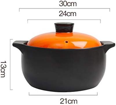 Casserole haute température Casserole en céramique Multifonctionnel,Boîte-cadeau de pot en pierre coloré par ménage de grande capacité de résistance à hautes températures-4L