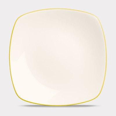 Noritake Colorwave Mustard 8 1/4-InchSquare Salad/Dessert Plate, 8-1/2-inch