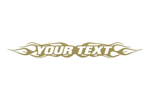 Sticky Creations - Design #100 Your Custom Text Personalized Customized Lettering Flame Flaming Windshield Decal Sticker Vinyl Graphic Rear Back Window Banner Car Truck | 36