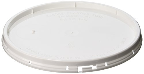 Encore Plastics 52250 White Tear Strip Lid, 2-Gallong