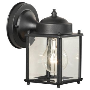 Park Avenue Lamp Base (Thomas Lighting Sl9469-7 Outdoor Essential Back Door Light, Matte Black)