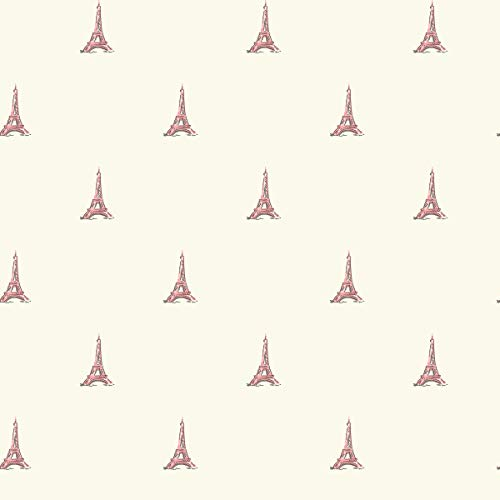 (Décor Direct YWWK6837 Tres Chic Tower Wallpaper, 20.5 in. x 33 ft. = 56 sq.ft, in Pinks)