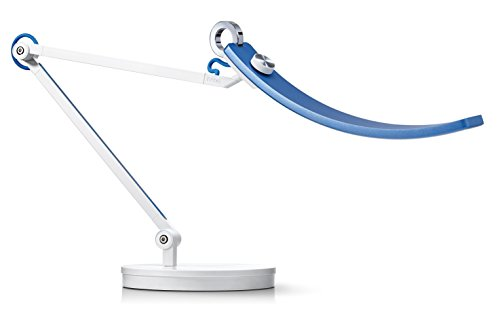 BenQ e-Reading LED Desk Lamp -World's First Desk Lamp for Monitors -Eye Care, Modern, Ergonomic, Dimmable, Warm/ Cool White -Perfect for Architects, Studying, Designers, Engineers, Gaming –Blue