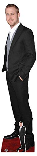 Star Cutouts CS786 Ryan Gosling Black Suit Cute Smile Lifesize Cut Out Figure with Free Desktop Cardboard Standee Standup 185cm Tall, Multicolour -