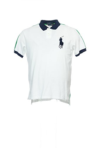 Polo Ralph Lauren Men's Short-Sleeve Pieced Mesh Polo Shirt (X-LARGE, PURE WHITE)