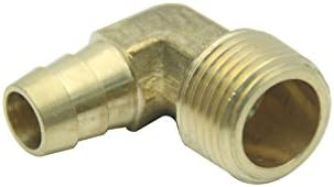 LTWFITTING LTWFITTING 90 Deg Elbow Brass Barb Fitting 1//4-Inch x1//4-Inch Hose ID Air//Water//Fuel//Oil//Inert Gases Pack of 5