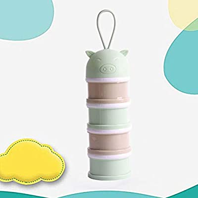 Sky-blue Toyvian Portable Four-Layer Snacks Case Creative Cookie Storage Box for Baby Kid Child