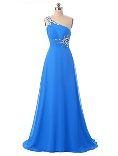 Shoulder Evening Dresses Chiffon Wedding