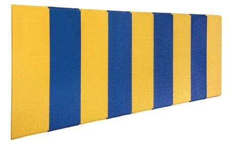 最初チームft458-fo foam-vinyl 2 x 8 ft。ボディガード壁パッドwith Foam only44 ;海軍ブルー