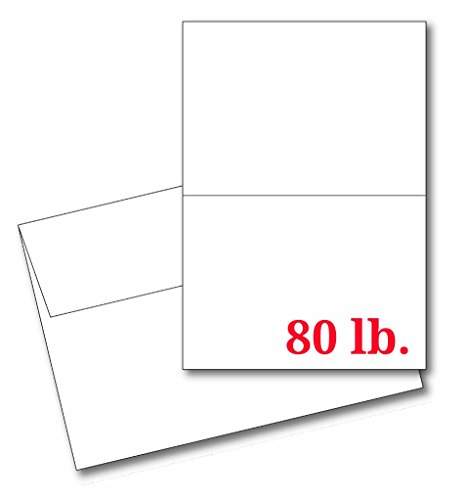 "4 1/4"" x 5 1/2"" Heavyweight Blank White Greeting Card Sets - 30 Cards & Envelopes - Make Your Own Cards Invites!"