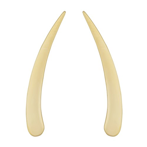 14k Yellow Gold Polished Tusk Climber Earrings by Kooljewelry
