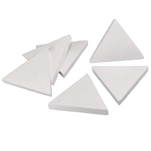 (Craft Foam - 6-Count Triangle Shaped Foam Sculpture, Polystyrene Foam Shapes for Craft, Craft Supplies for DIY Arts and Crafts Projects, Kids Art Class, 8 x 1 x 6.93)