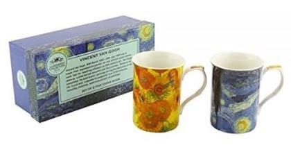 Set of 2 Van Gogh Fine Bone China Mug Set in a Gift Box by The Leonardo Collection (Fine Bone China Mug)