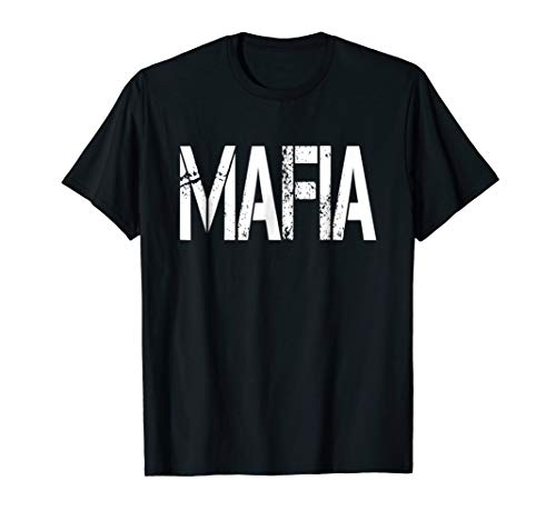 Mafia Halloween Costume T-shirt -
