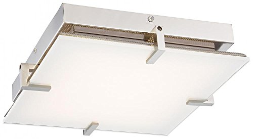 George Kovacs P1111-613-L, Hooked, 1 Light LED Flush Mount, Polished Nickel