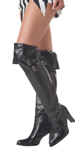 California Costumes Deluxe Boot Covers, Black, One