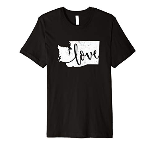 Washington Home Love Vintage state map outline shirt - Vintage Vancouver Jersey