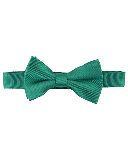 Velcro Bow Tie - RuggedButts Infant / Toddler Boys Pre-tied Bow Tie / Bowtie - Emerald - 0-24m