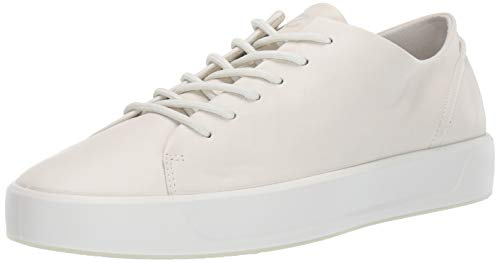 ECCO Men's 8 Tie Sneaker, Shadow White Soft, 41 M EU (7-7.5 US)