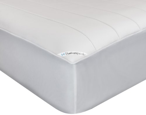 """Sealy Posturepedic Memory Foam Fitted Mattress Protector - Memory Foam Layer Adds Comfort and Support - Protection Against Spills and Stains - Machine Washable, King, 78""""x80"""""""