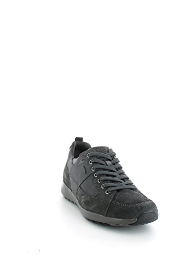 Geox U54F8D022ME Sneakers Herren Wildleder Dunkelgrau 42
