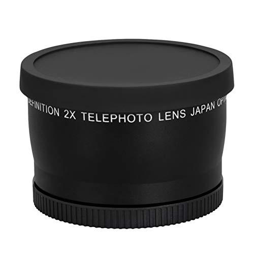 LEDMOMO 58mm 2X Teleconverter Lens Telephoto Conversion Lens for Canon Nikon DSLR Cameras