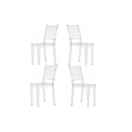 Kartell Offerta 4 sedie LA MARIE trasparente: Amazon.it ...