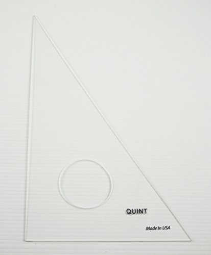 QUINT Premium Unbreakable Clear Academic Triangle 30/60 - 10'' 30 Piece Classroom Pack by Quint Measuring Systems