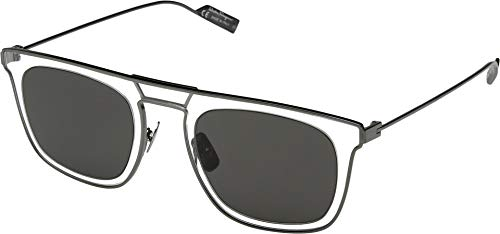 Salvatore Ferragamo Men's SF187SM Grey/Crystal/Solid Grey One Size -