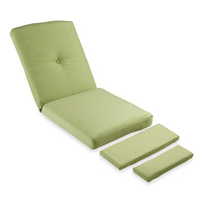 Mix & Match Stratford Wicker Recliner Cushion in Lime