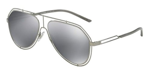 Dolce & Gabbana Unisex DG2176 Gunmetal/Light Grey Mirror Black - Gabbana Dolce Eyewear Men