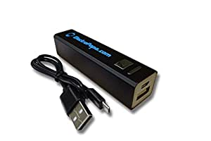 electropapa Powerbank / cargador portátil / batería portátil micro USB 2200mAh negro para HTC Desire