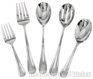 (Complete Elegant Regency Line 5-Piece Flatware Serving Set, Utensil Serving S. by Update International)