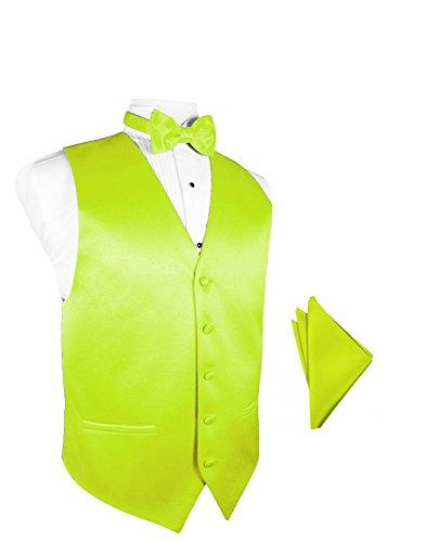 Tuxedo Vest Lime Satin - 6