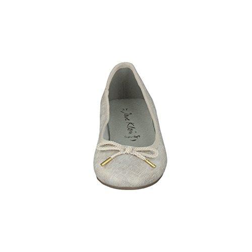 Jane Klain Zapatos Mujer Bailarinas 221-070 EN 2 Colores con Elemento de Amarre Beige