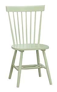 Homelegance 5168-S1PG Wooden Side Chair, Pastel Green, Set of 2