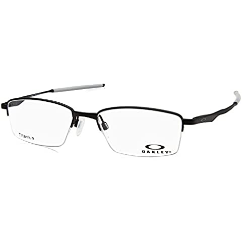 21afba637c Oakley OX 5119 01 Limit Switch 0.5 Satin Black Metal Rectangle Eyeglasses  52mm